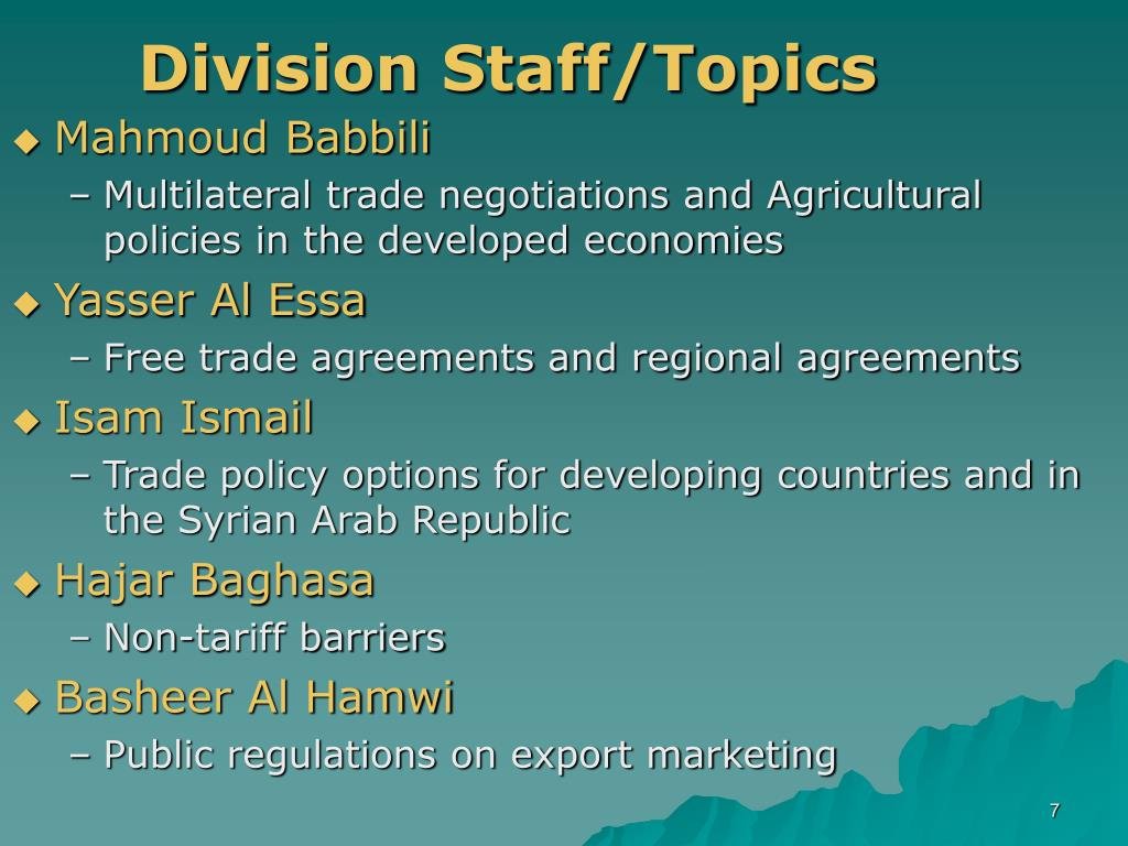 Division Staff/Topics