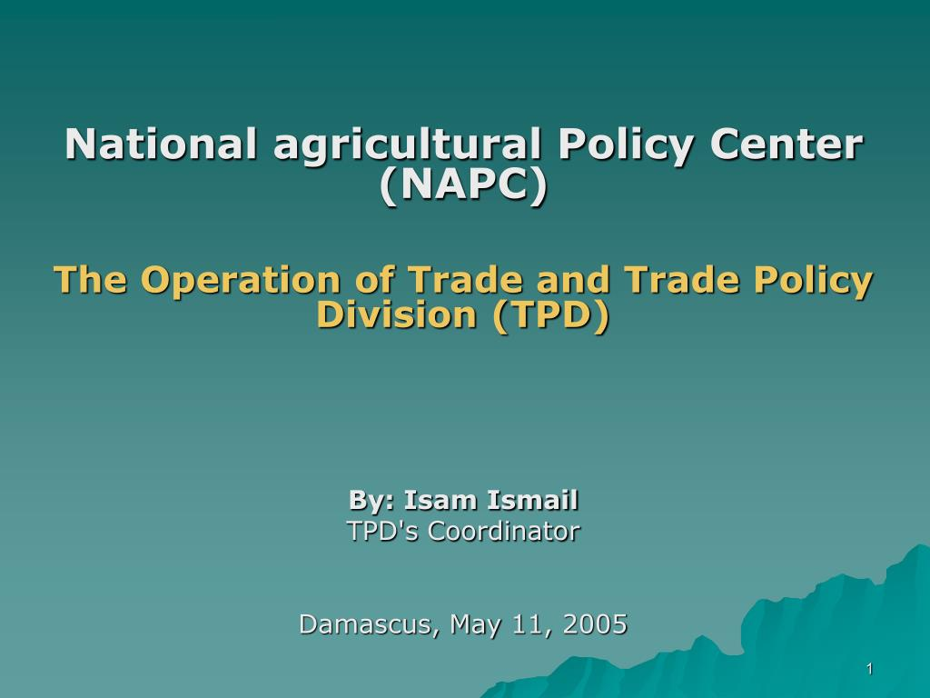 National agricultural Policy Center (NAPC)