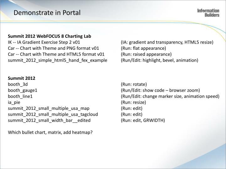 Demonstrate in Portal