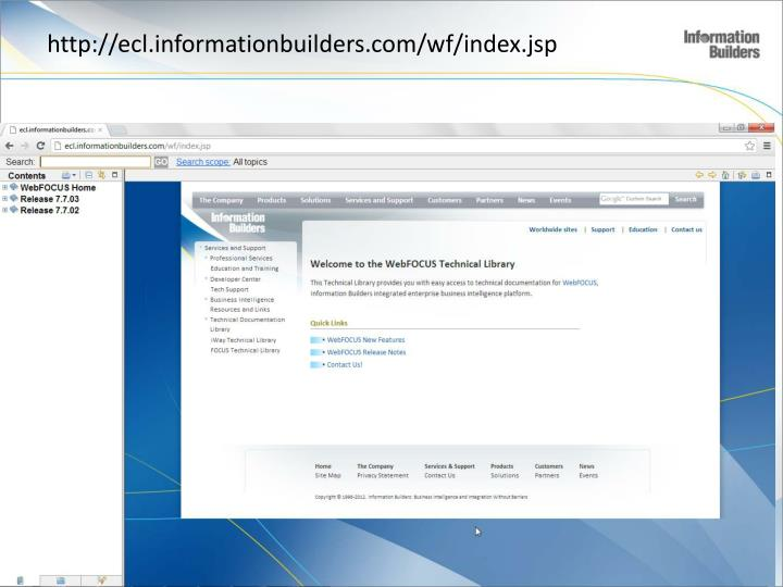 http://ecl.informationbuilders.com/wf/index.jsp
