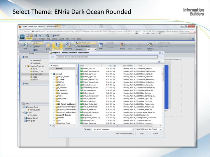Select Theme: ENria Dark Ocean Rounded