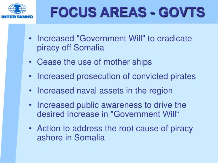 FOCUS AREAS - GOVTS