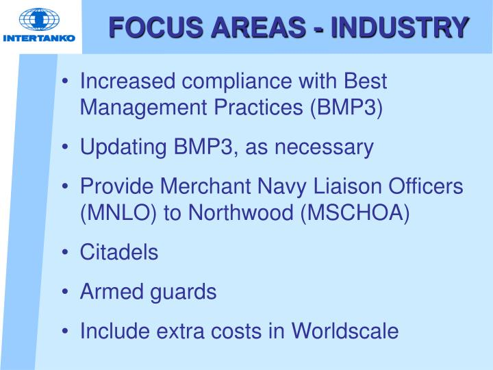 FOCUS AREAS - INDUSTRY