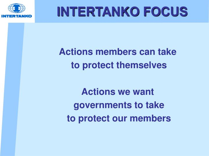 INTERTANKO FOCUS