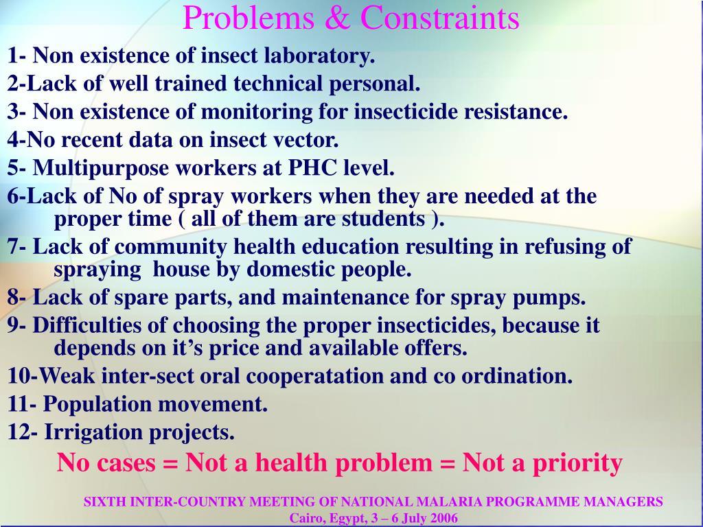 Problems & Constraints