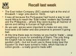 recall last week
