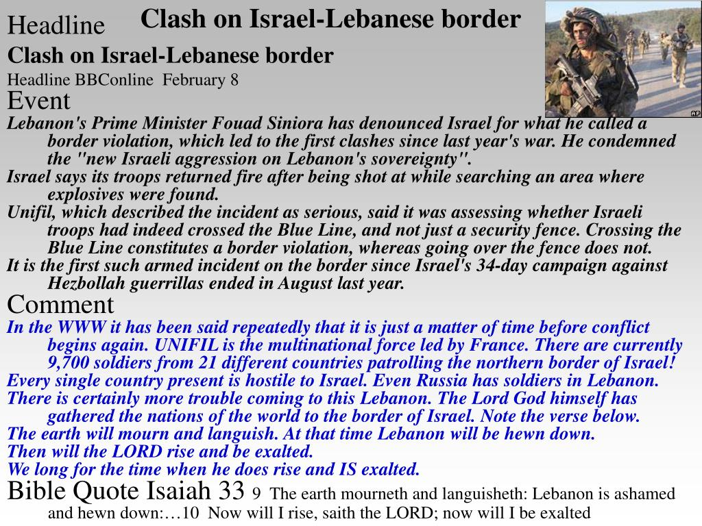 Clash on Israel-Lebanese border