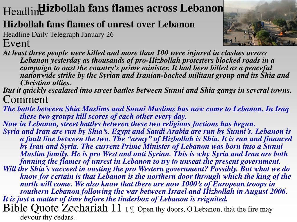 Hizbollah fans flames across Lebanon