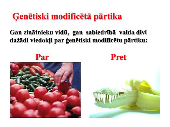 Ģenētiski modificētā pārtika