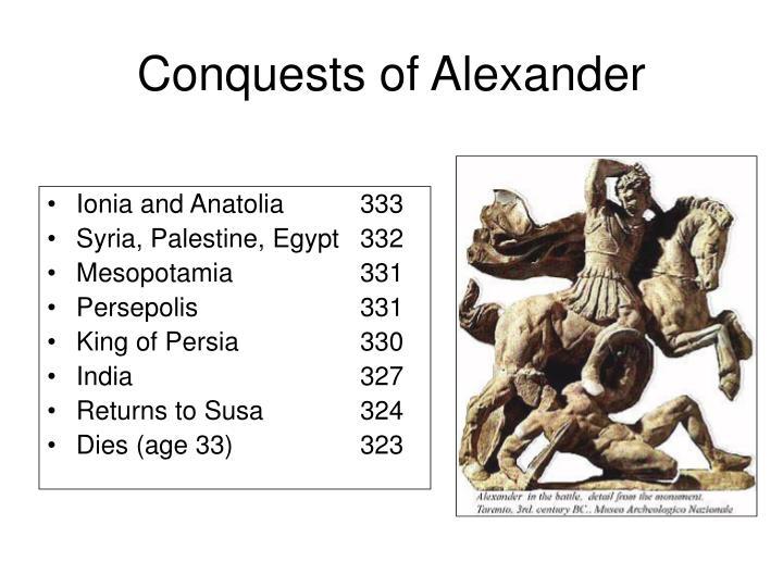 Conquests of Alexander