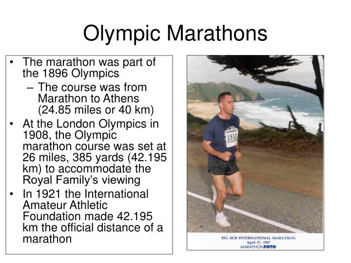Olympic Marathons