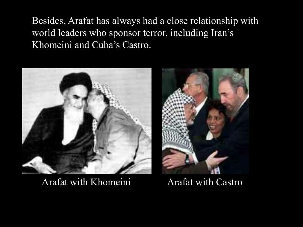 Arafat with Khomeini