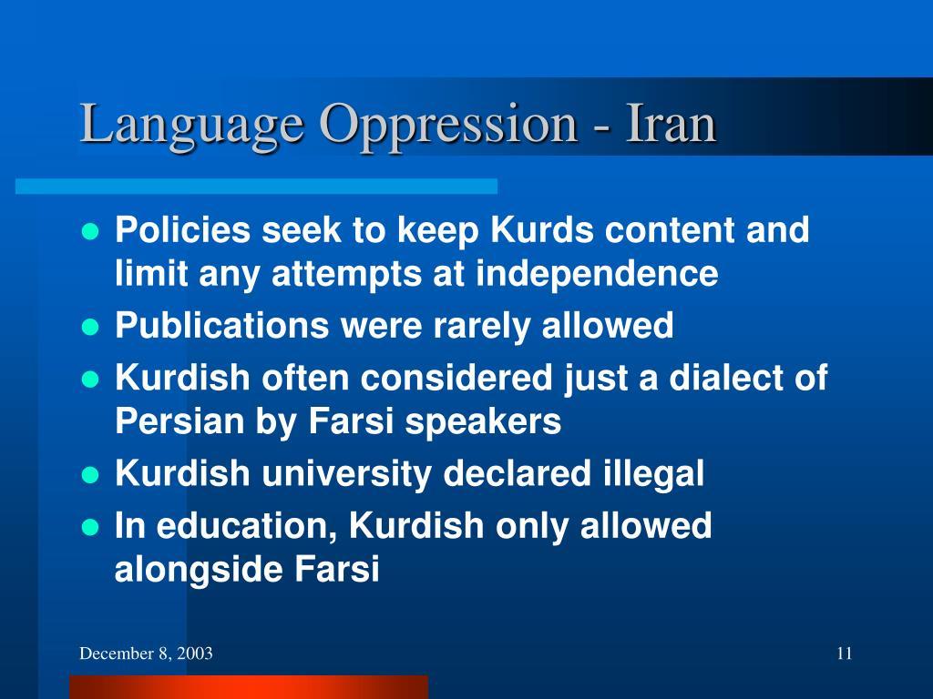 Language Oppression - Iran