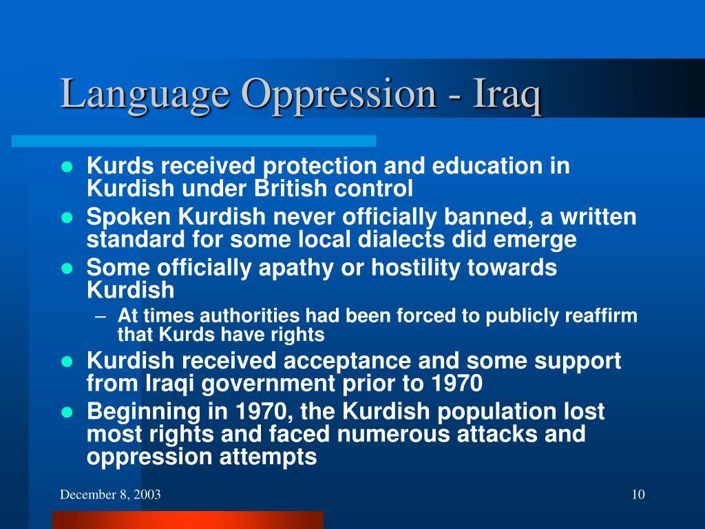 Language Oppression - Iraq