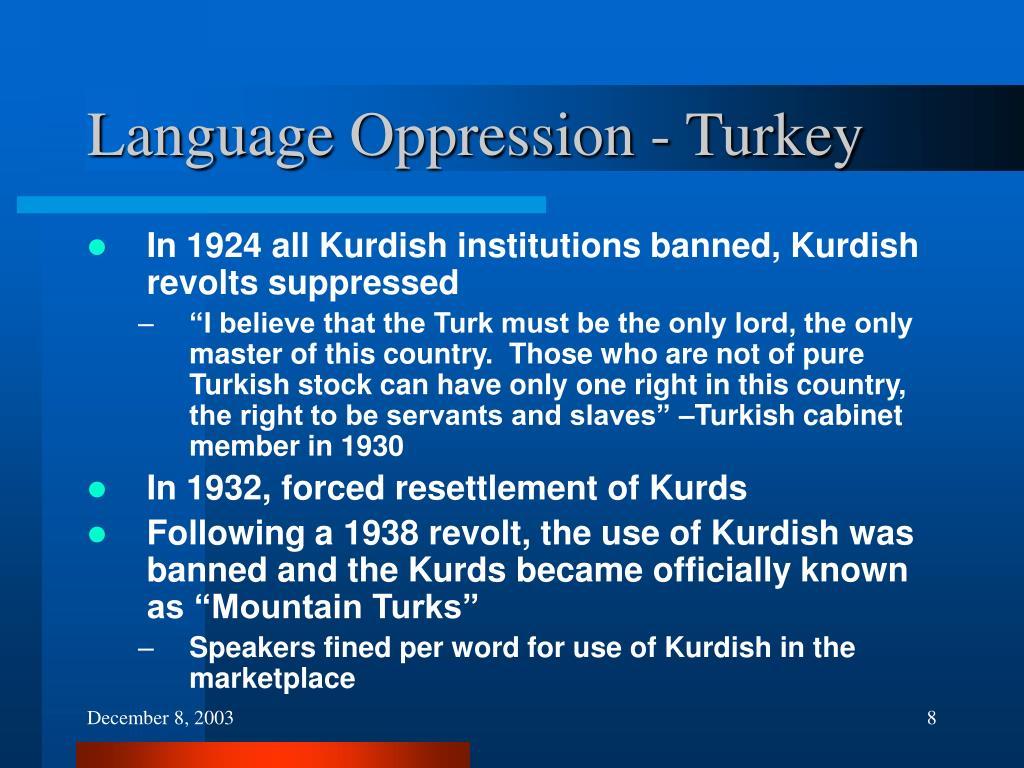 Language Oppression - Turkey