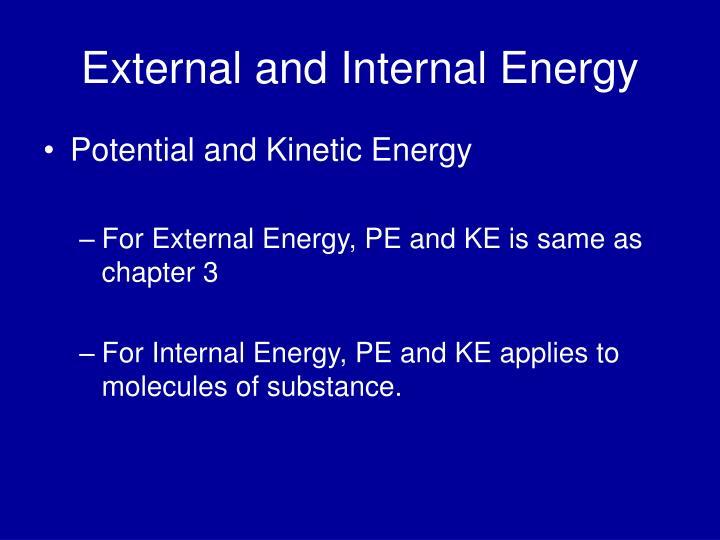 External and Internal Energy