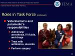 roles in task force continued