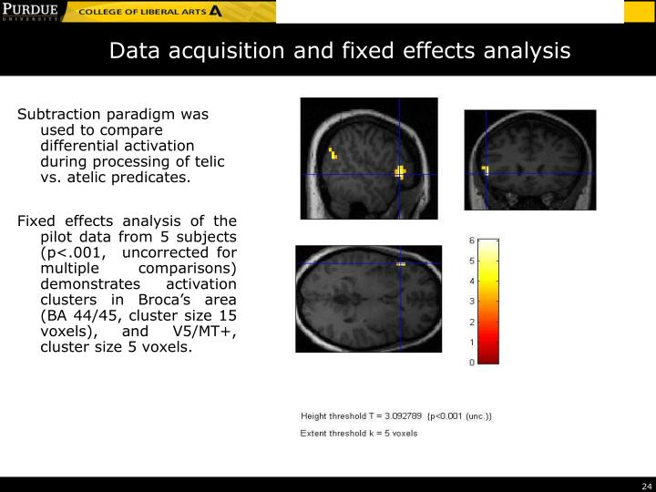 Data acquisition and fixed effects analysis