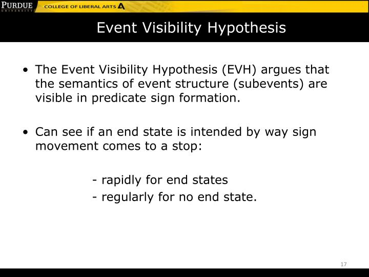 Event Visibility Hypothesis
