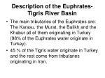 description of the euphrates tigris river basin3