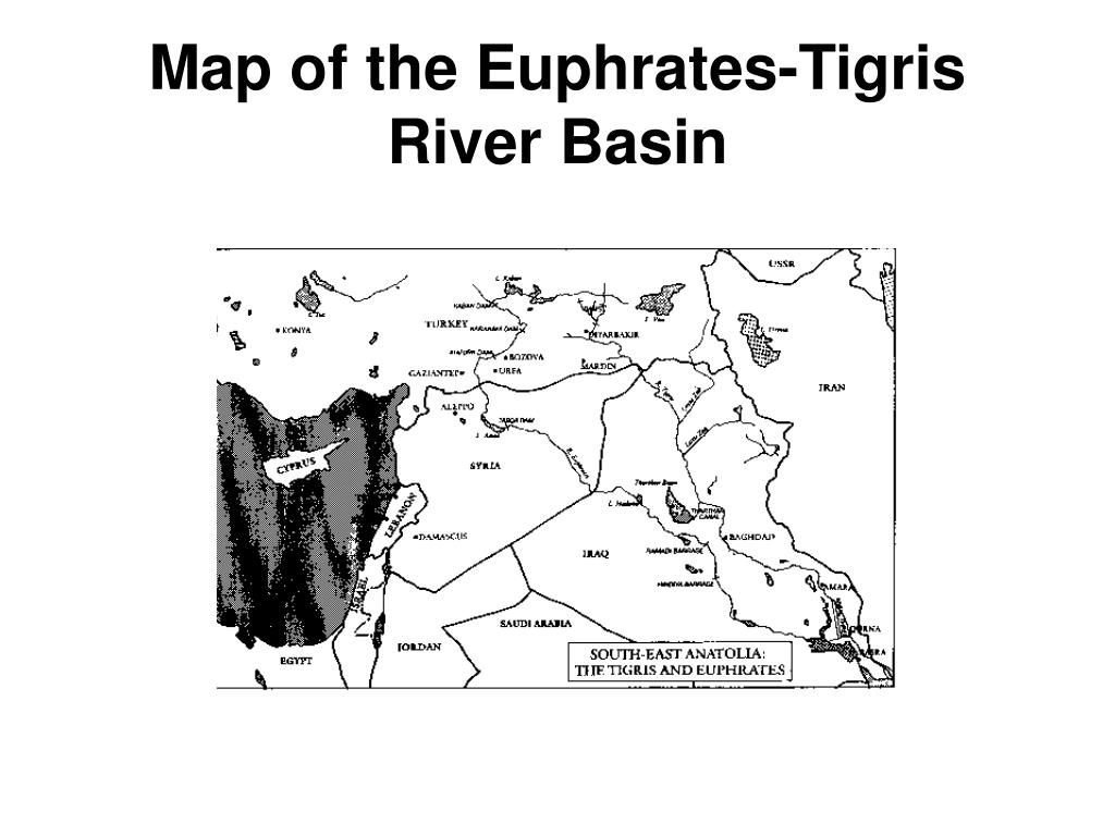 Map of the Euphrates-Tigris River Basin