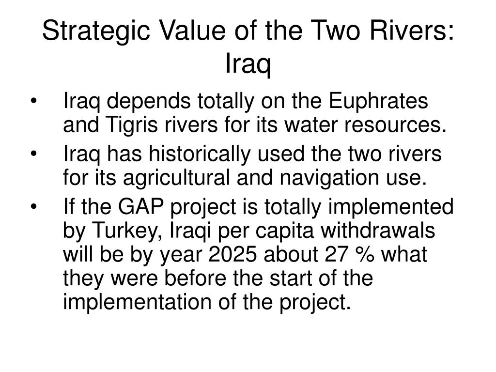 Strategic Value of the Two Rivers: Iraq