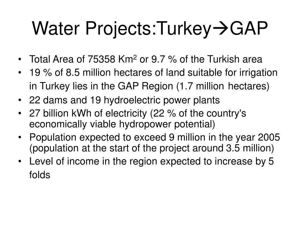 Water Projects:Turkey