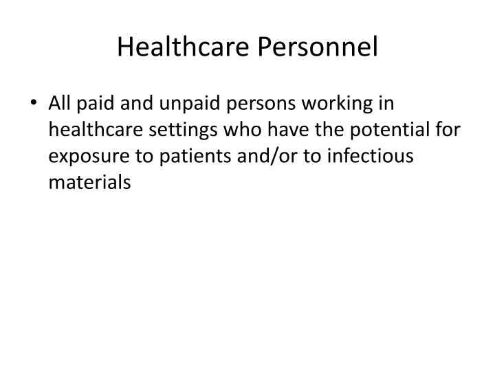 Healthcare personnel