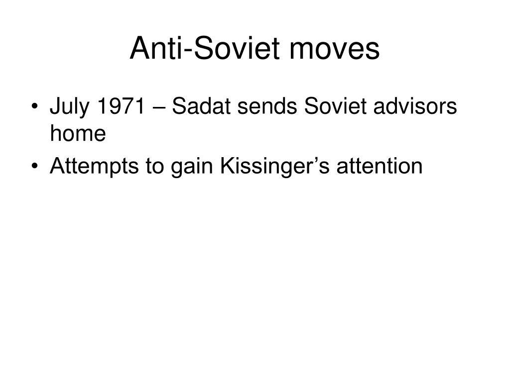Anti-Soviet moves