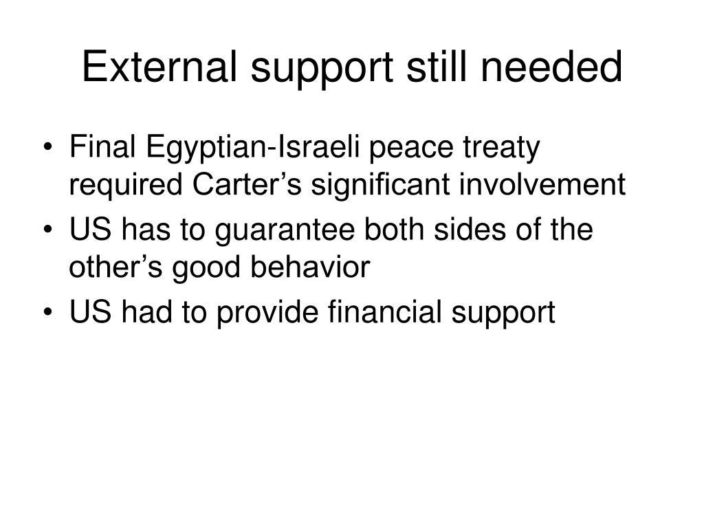 External support still needed