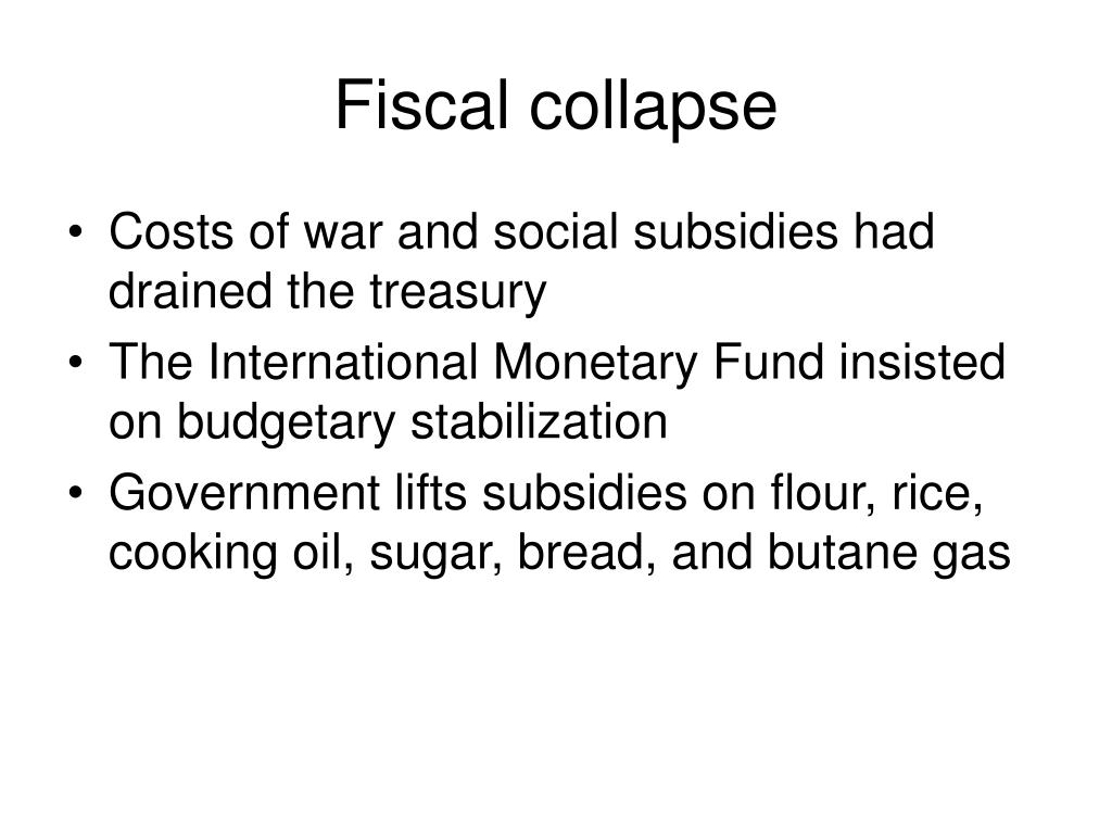 Fiscal collapse