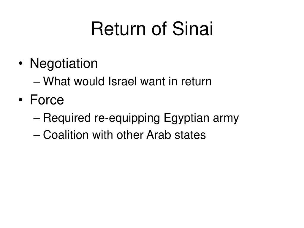 Return of Sinai