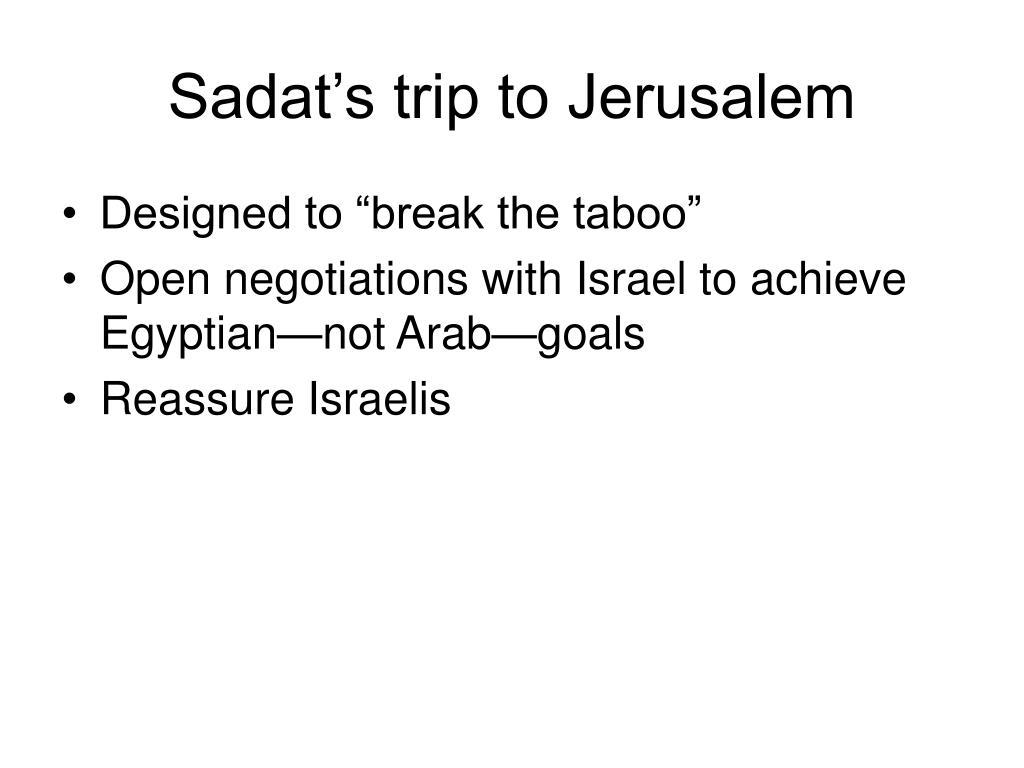 Sadat's trip to Jerusalem