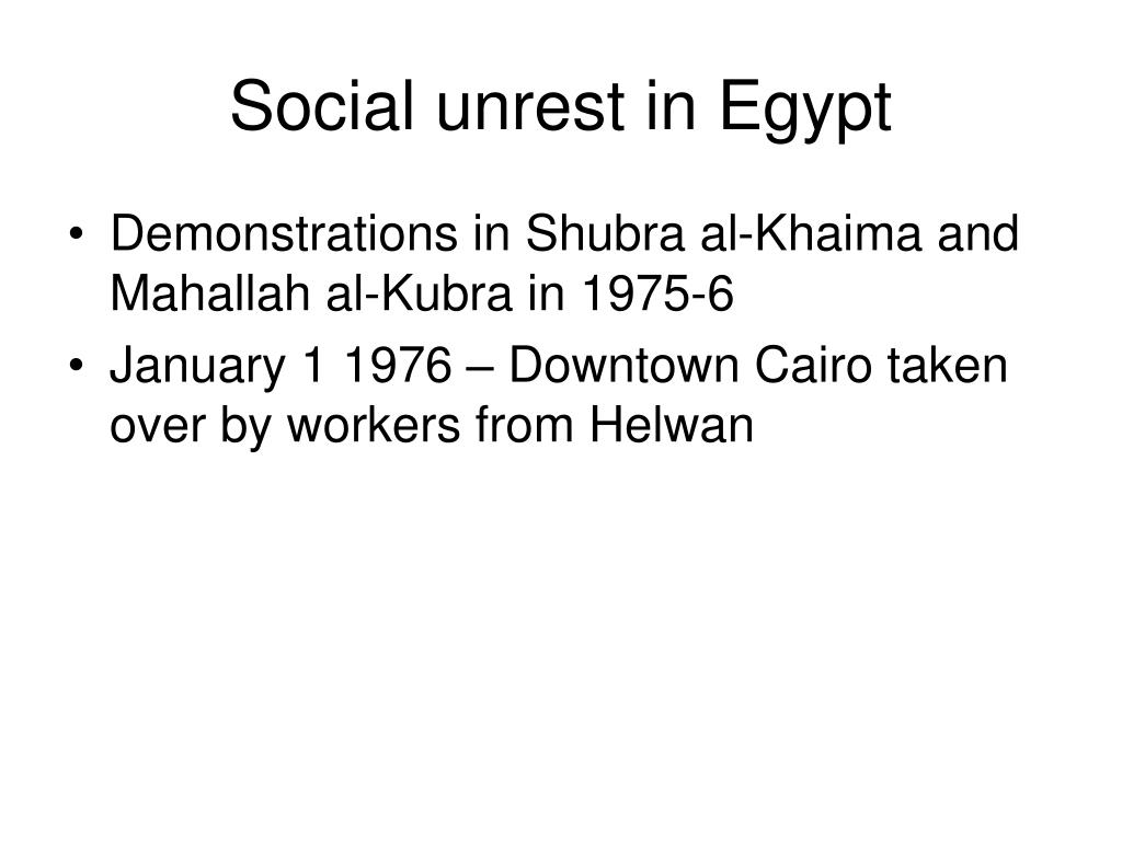 Social unrest in Egypt