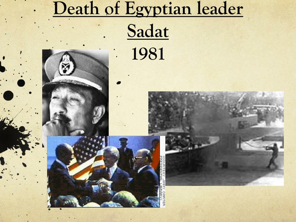Death of Egyptian leader Sadat