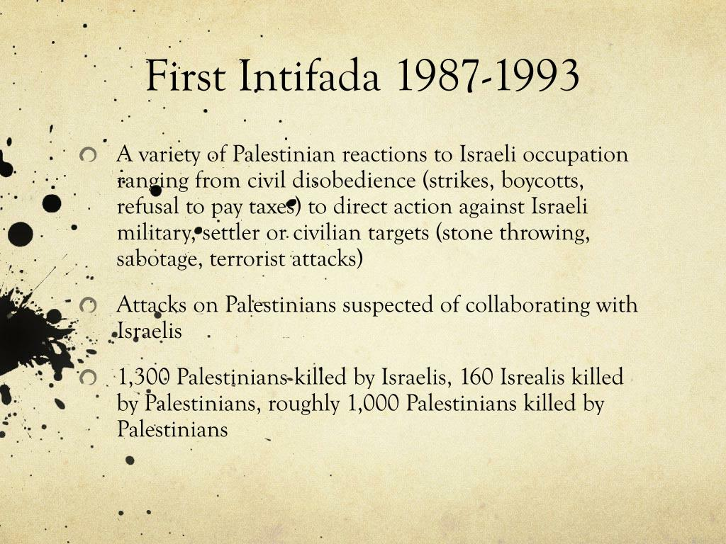 First Intifada 1987-1993