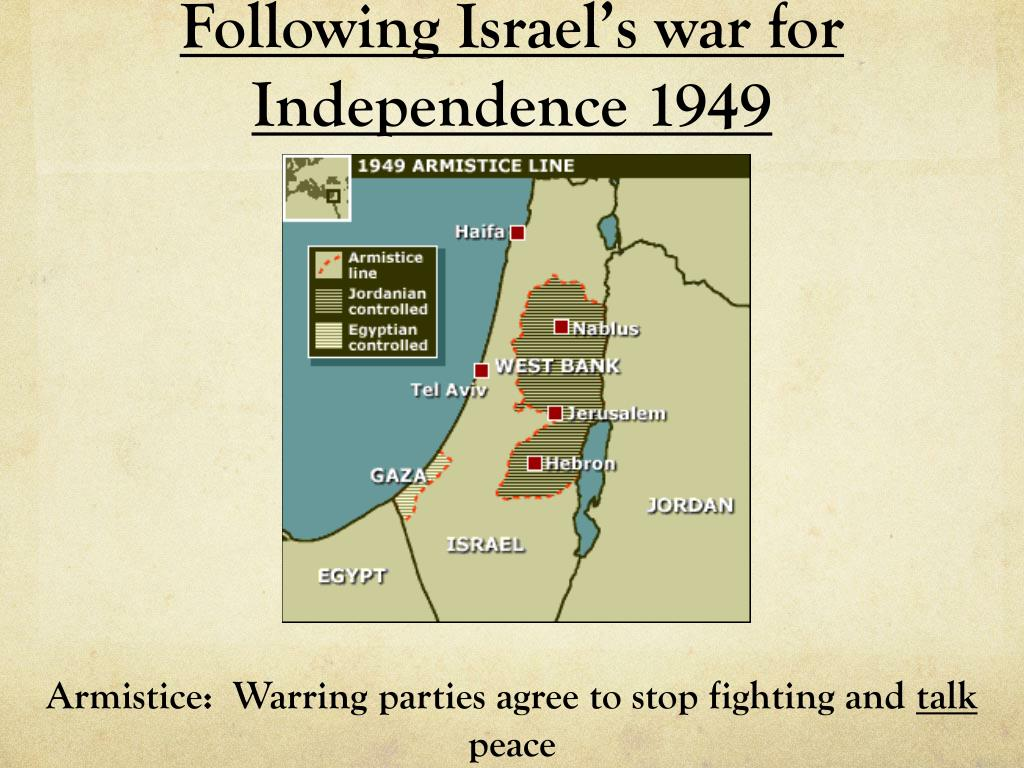 Following Israel's war for Independence 1949
