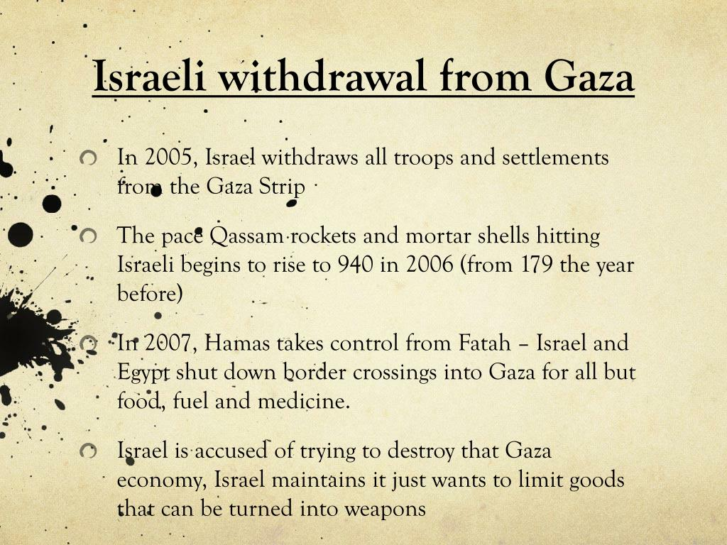 Israeli withdrawal from Gaza