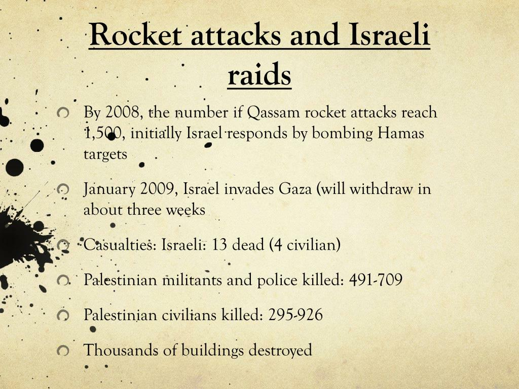 Rocket attacks and Israeli raids