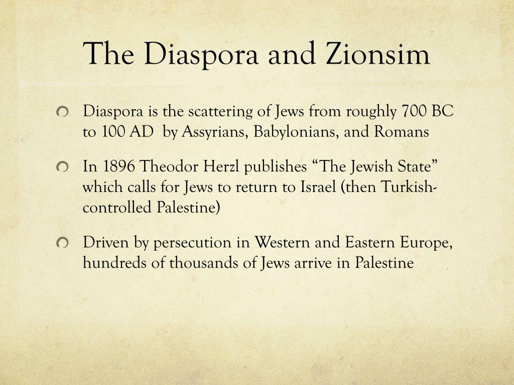 The Diaspora and Zionsim