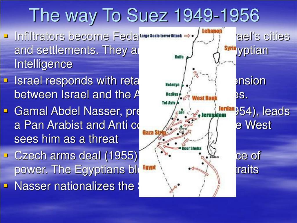 The way To Suez 1949-1956
