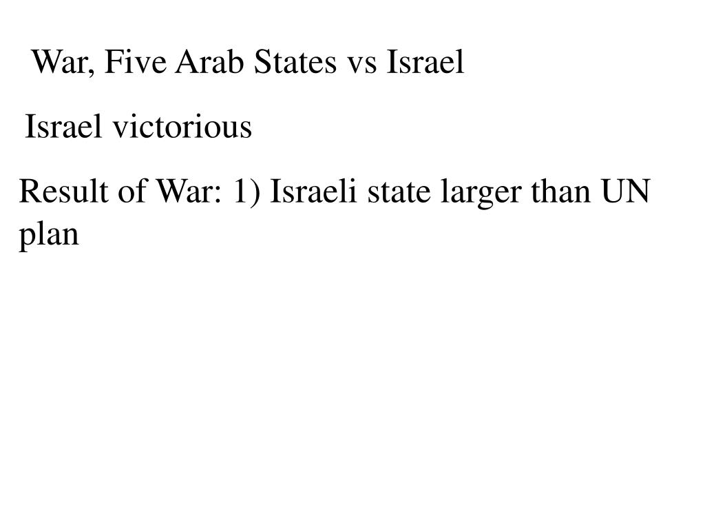 War, Five Arab States vs Israel