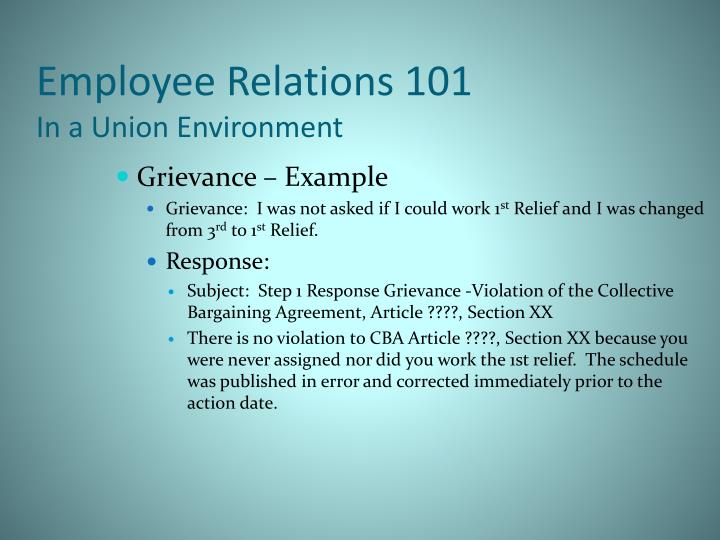 employers seeking employees relations in a non union environment The best strategies to prevent unionizing communicate a non-union environment: an employer should it is beneficial to show employees that the employer is pro.