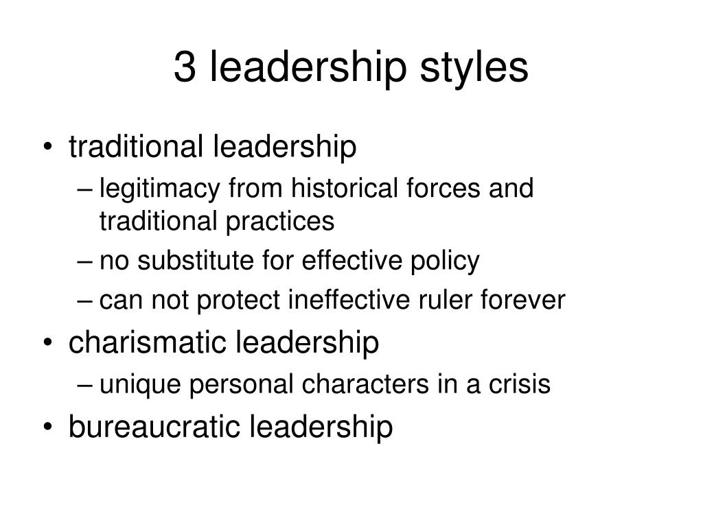 3 leadership styles