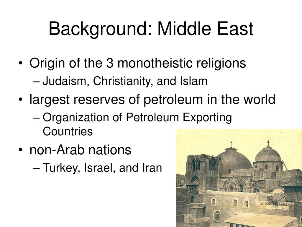 Background: Middle East
