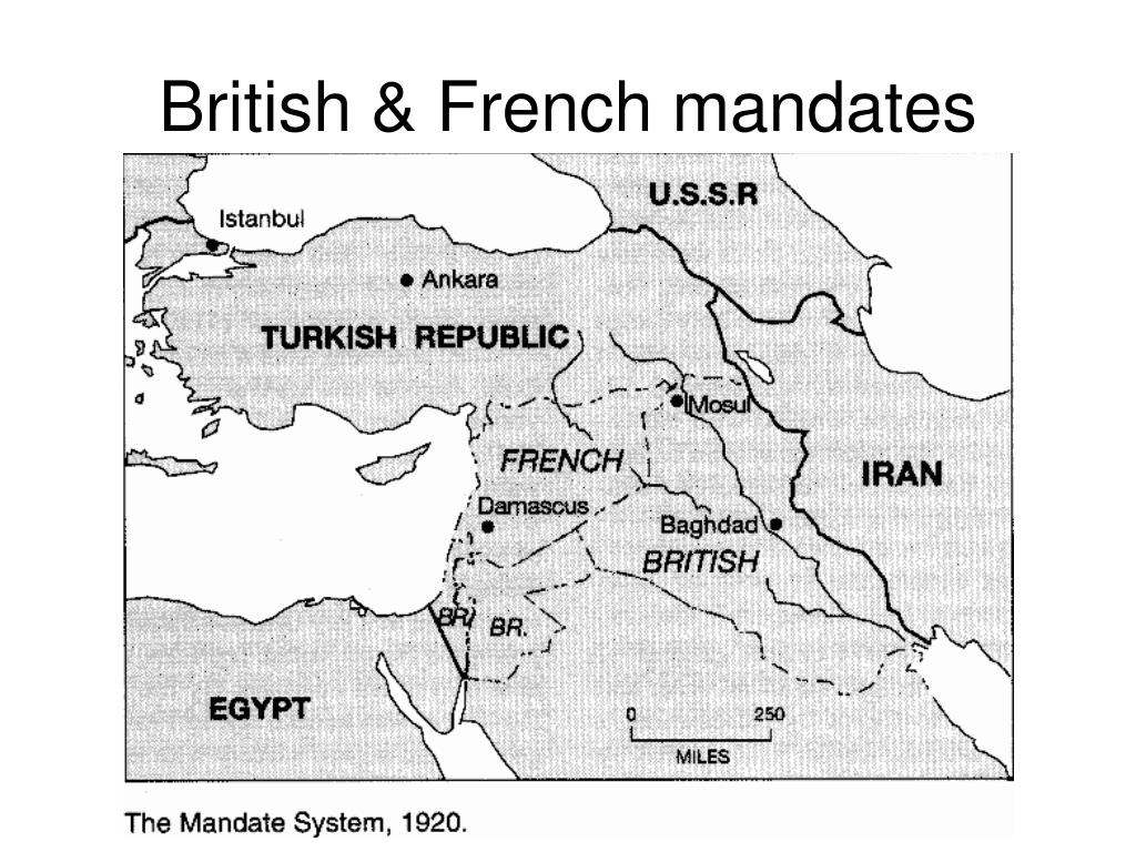 British & French mandates