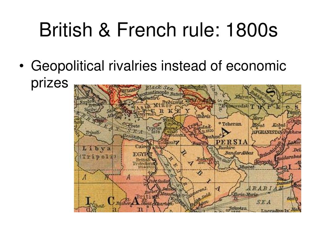 British & French rule: 1800s