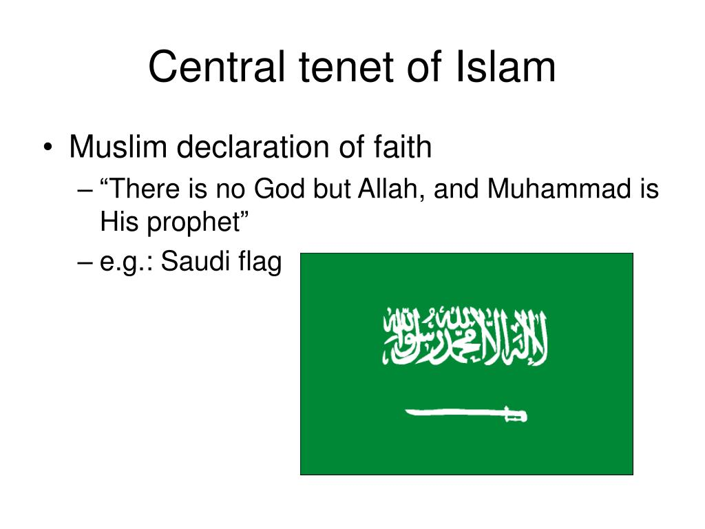 Central tenet of Islam
