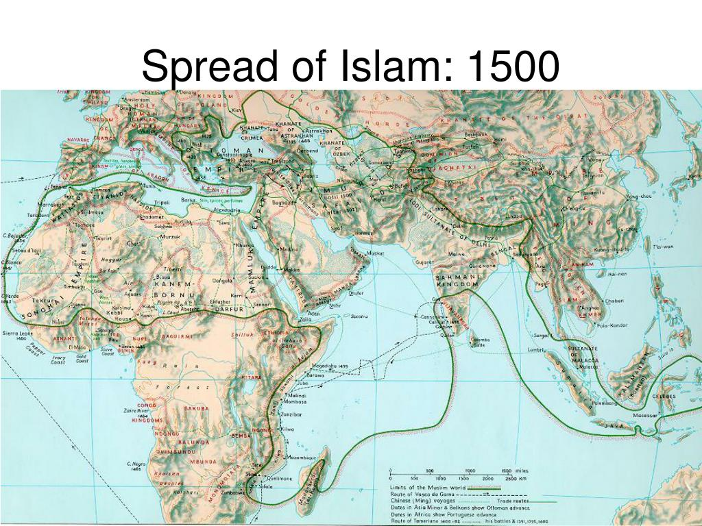 Spread of Islam: 1500