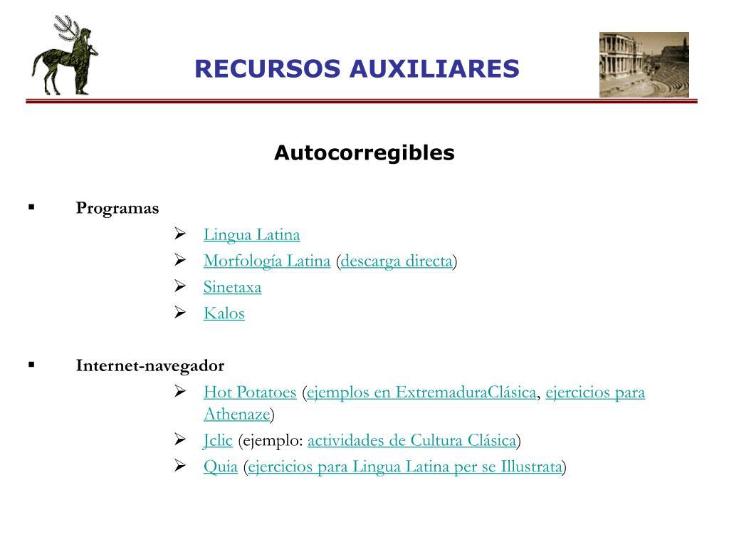RECURSOS AUXILIARES